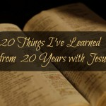 20 Things I've Learned from 20 Years with Jesus