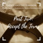 Karate and the Kingdom Part Two: Accept the Terms