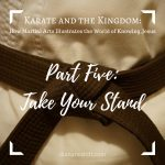 Karate and the Kingdom Part Five: Take Your Stand